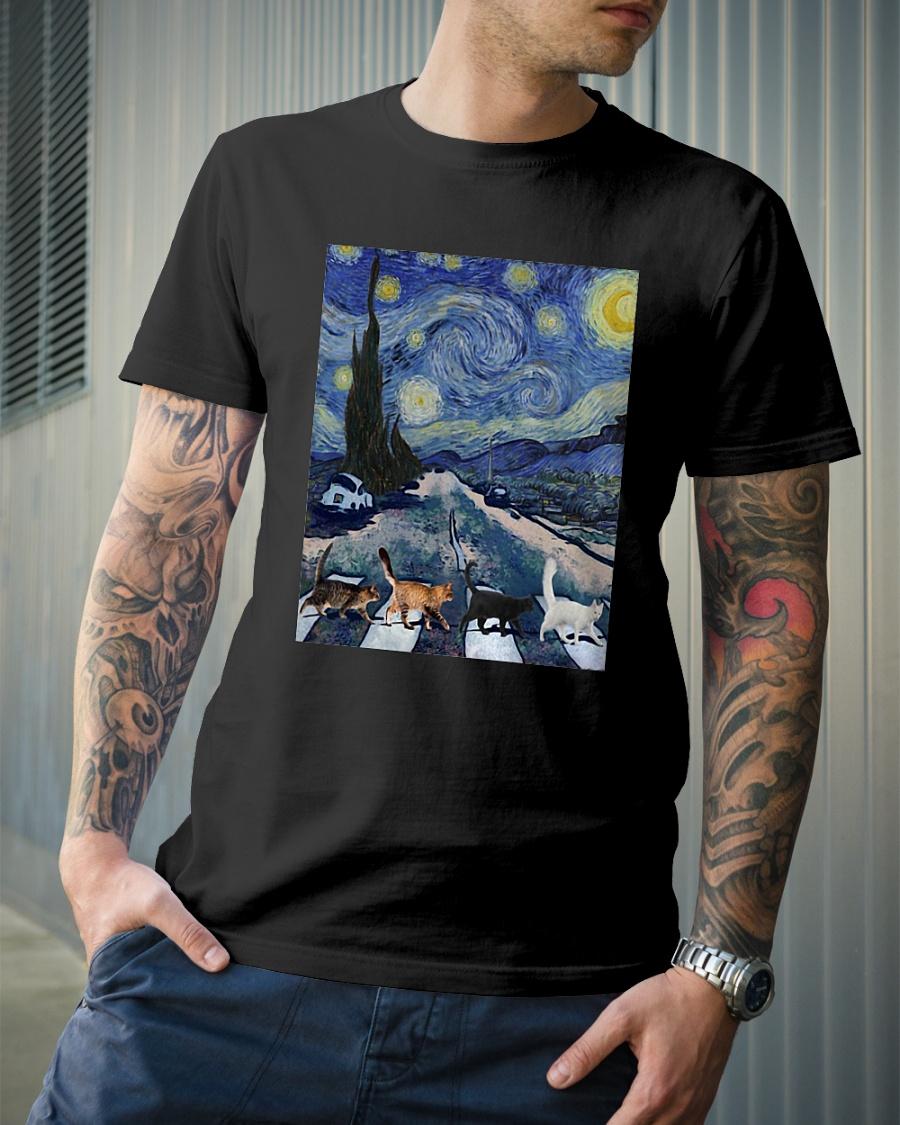 Cat Starry Night shirt