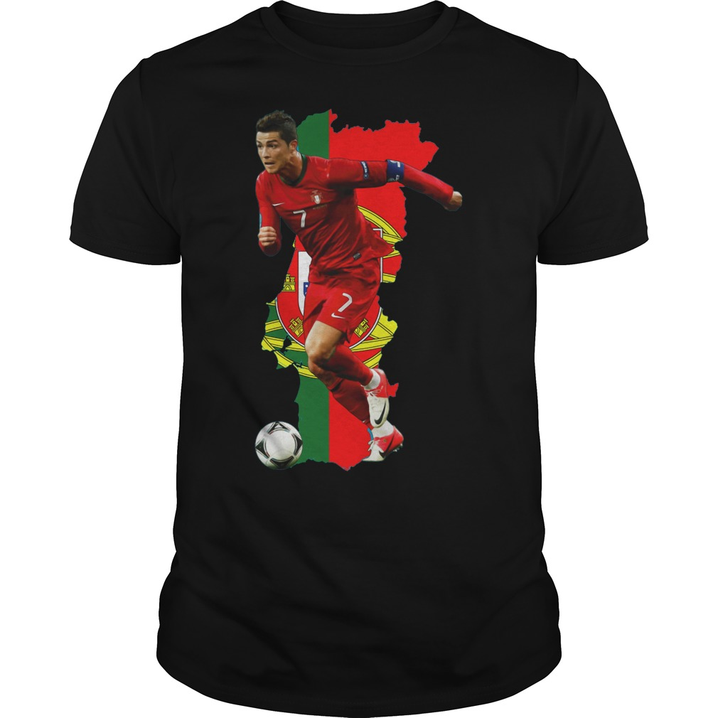 Cristiano Ronaldo of Portugal in world cup 2018 shirt