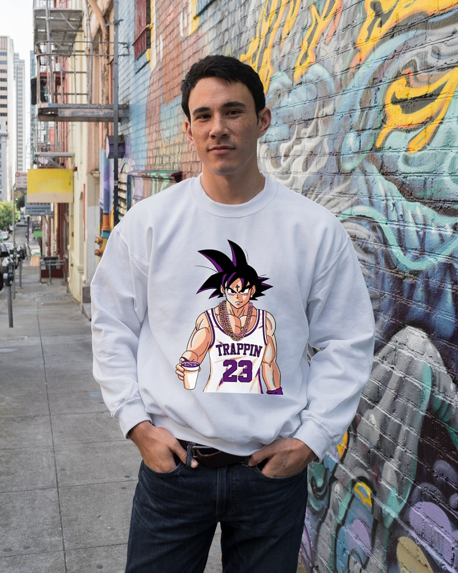 Dragon Ball Goku trappin 23 sweater