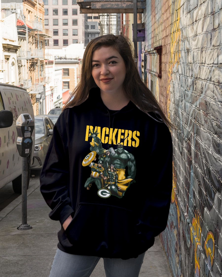 Green Bay Packers Avengers Thor Captain America Hulk and Iron man hoodie