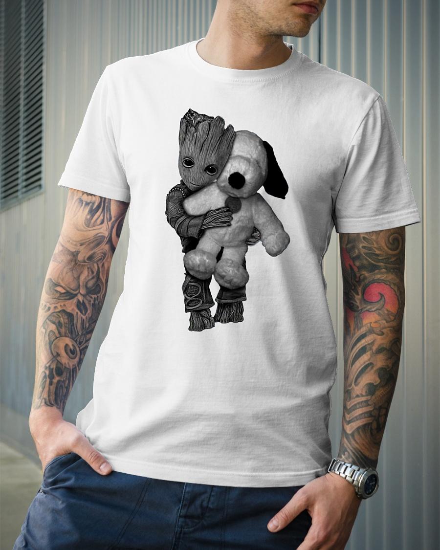 Groot hug baby teddy shirt