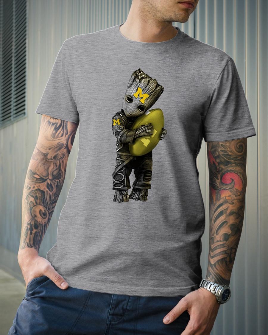 Groot hug rugby ball Michigan stars shirt