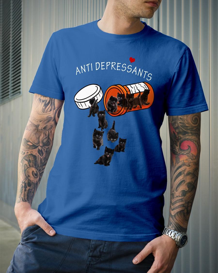 Happy anti depressants cat shirt