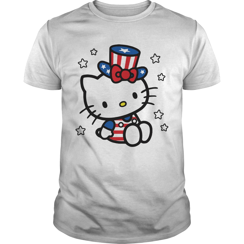 Hello Kitty American independence day shirt