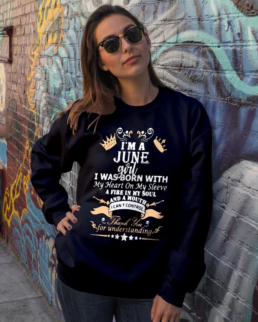 I'm a June girl I was born with my heart on my sleeve sweater