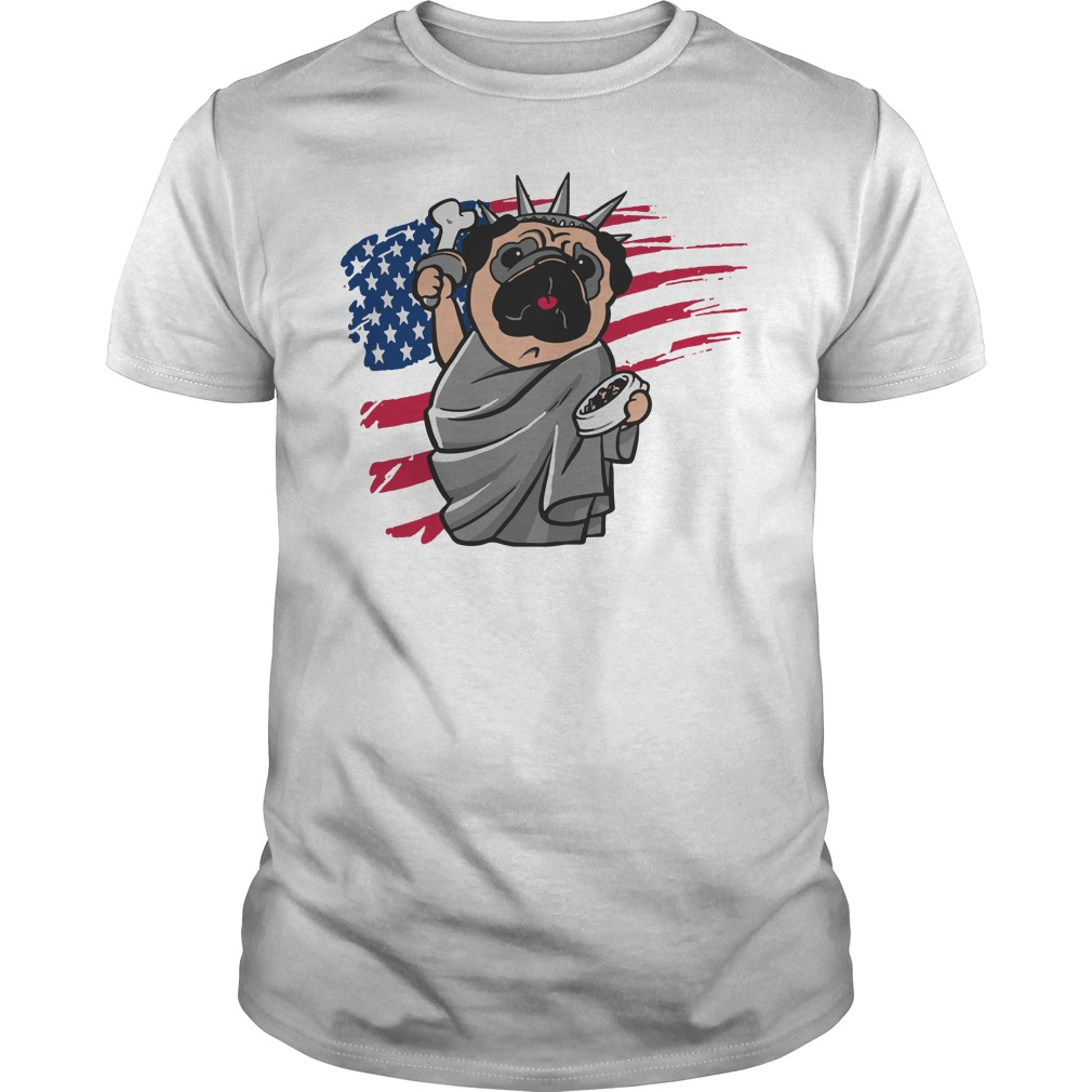 Independence day Pug 4th of July shirt