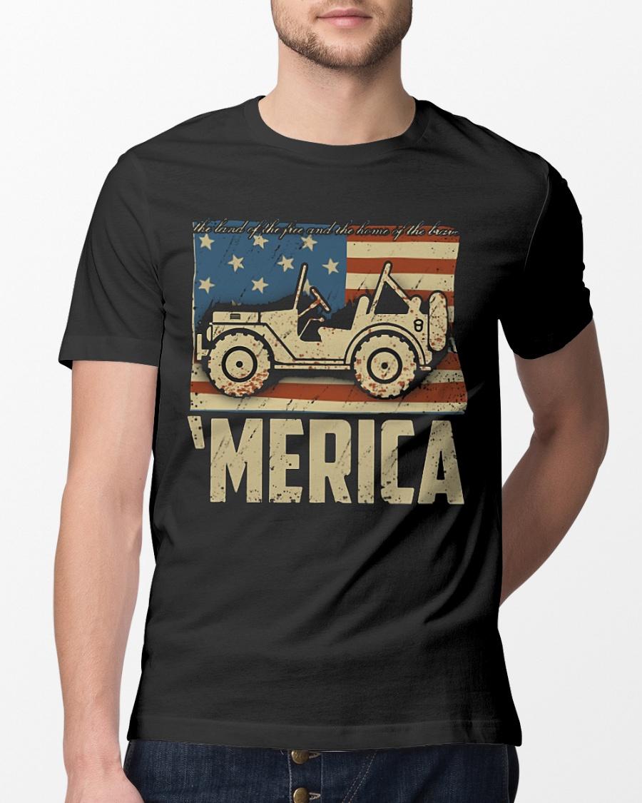Jeep Merica American flag shirt