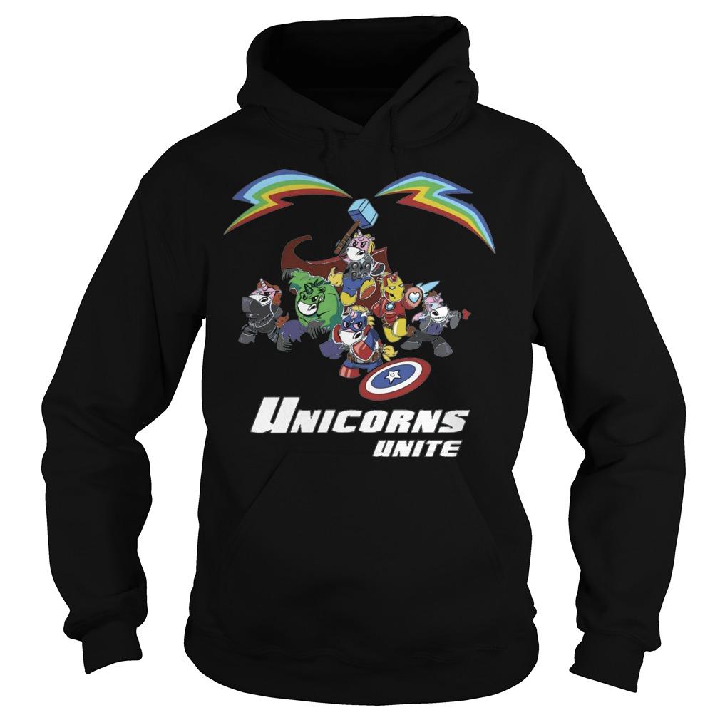 Marvel all hero in Avengers version Unicorn unite hoodie
