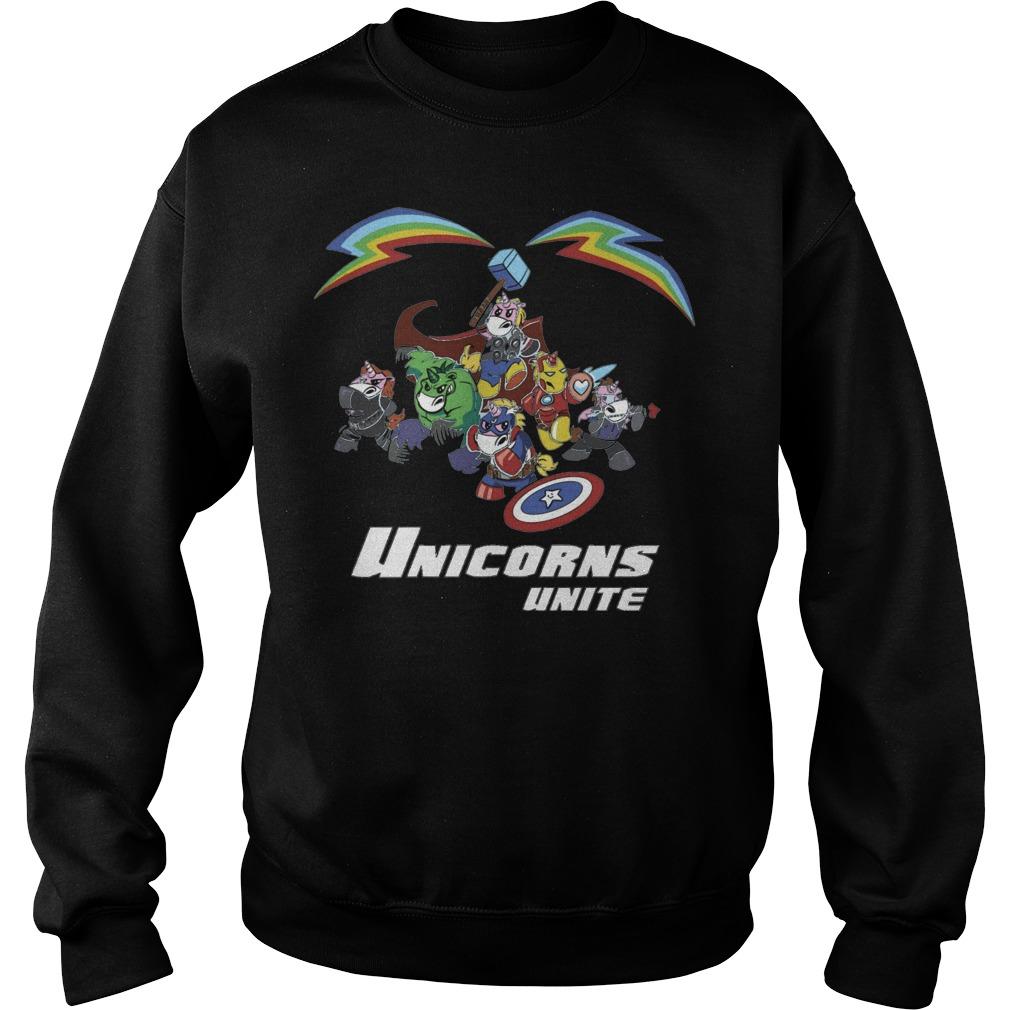 Marvel all hero in Avengers version Unicorn unite sweater