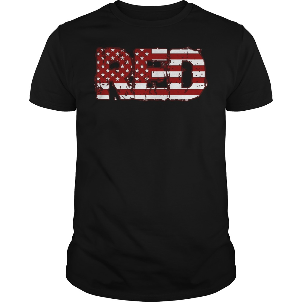 Red American flag 4th of July shirt
