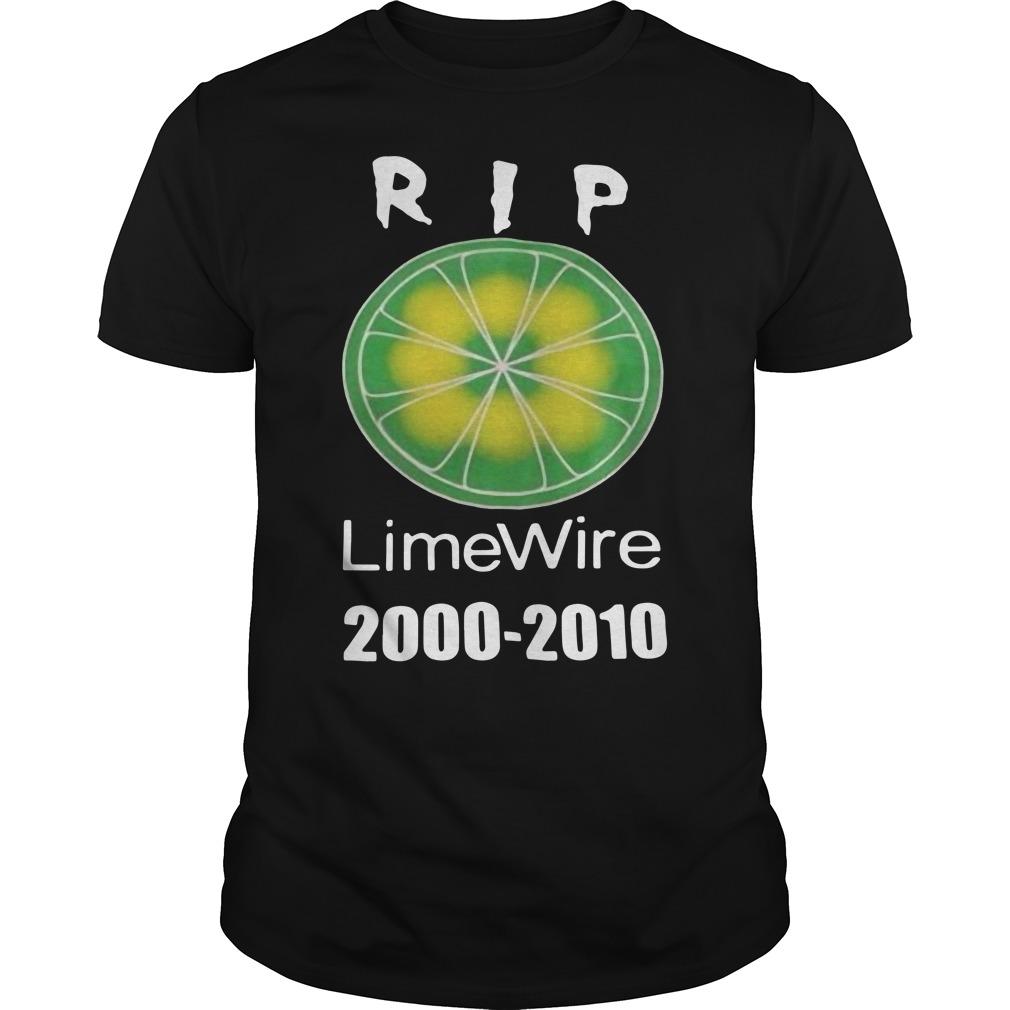 Rip Limewire 2000 to 2010 shirt