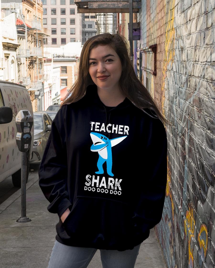 Shark dabbing Teacher Doo Doo hoodie