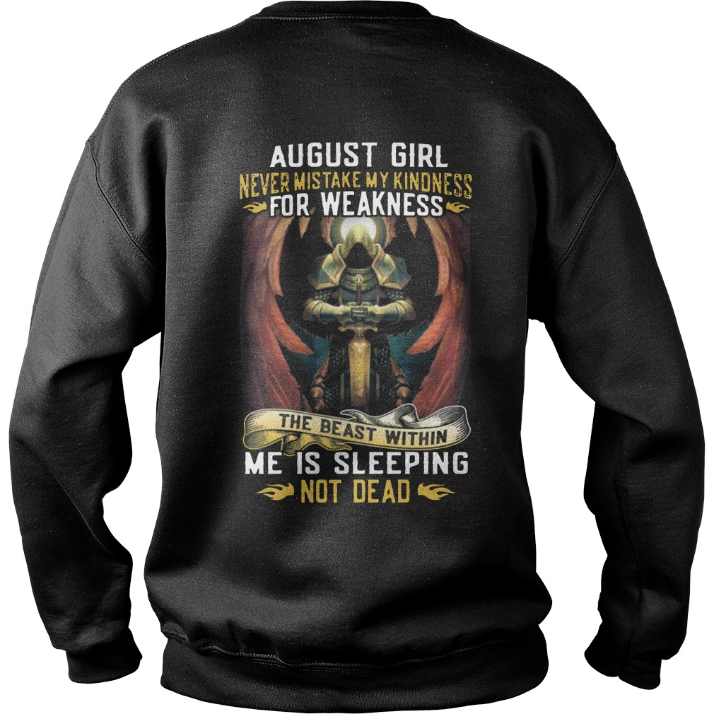 August girl never mistake my kindness for weakness sweater