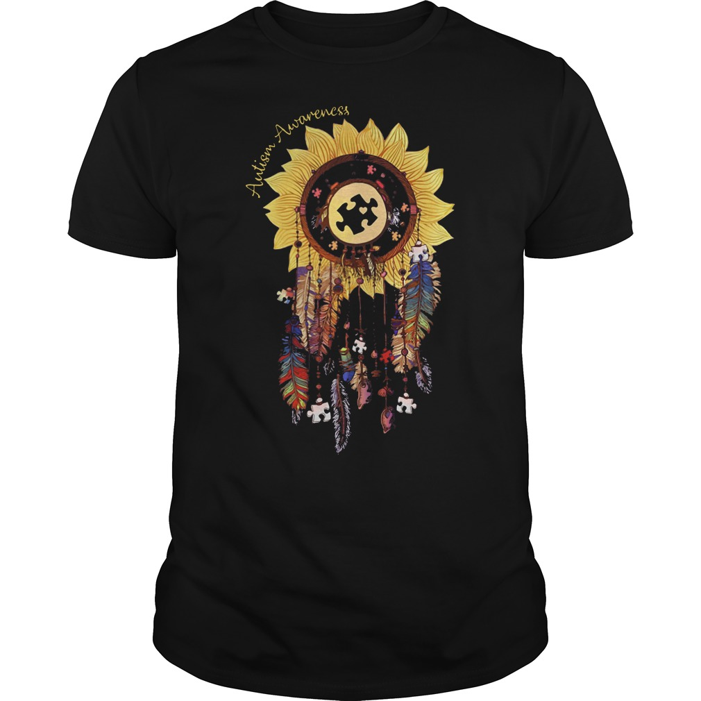 Autism awareness sunflower dream catcher shirt