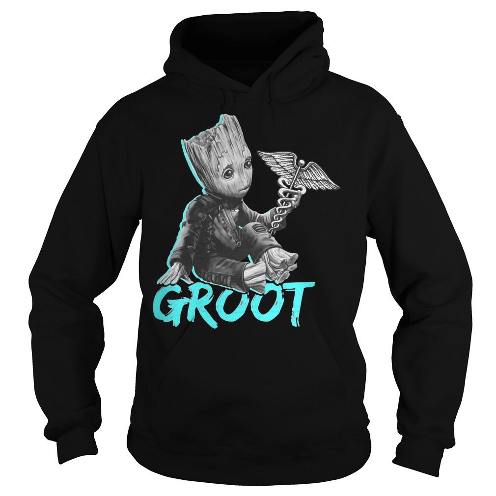 Baby Groot keeping Nurse hoodie