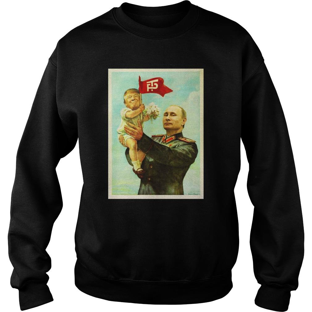 Baby Trump and Putin sweater