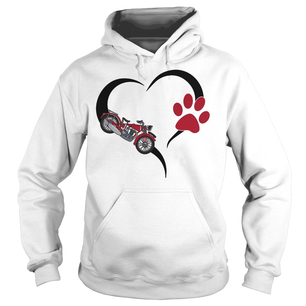 Biker heart paw hoodie