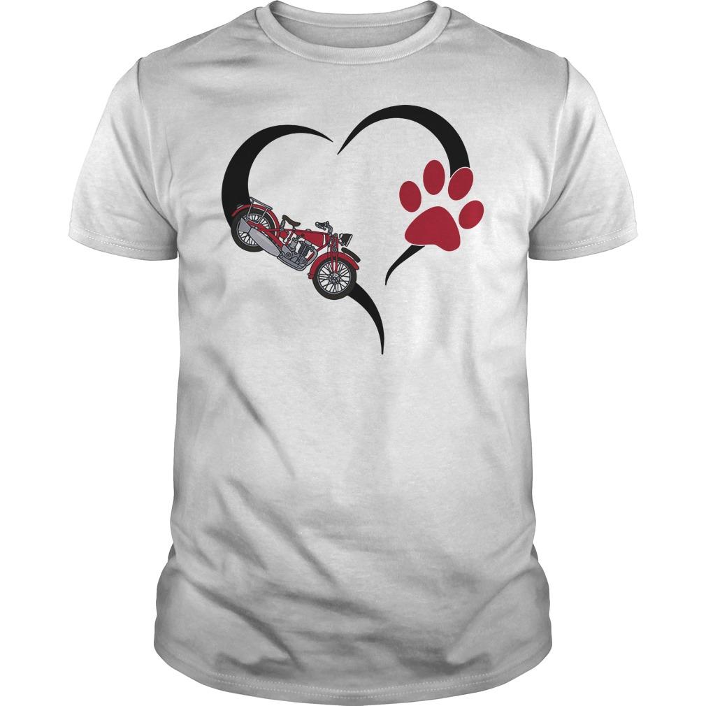 Biker heart paw shirt