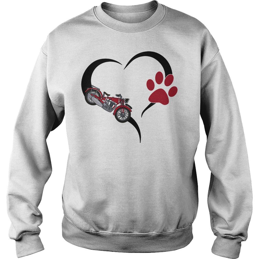 Biker heart paw sweater