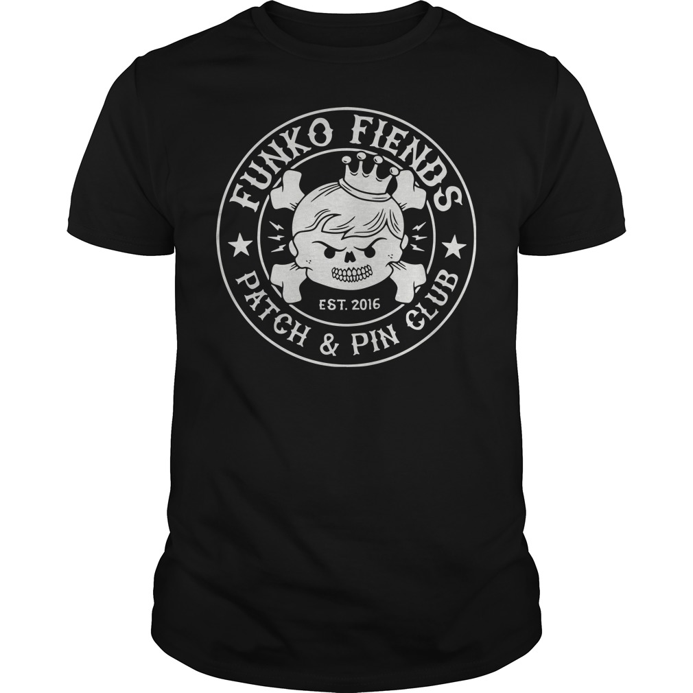 Funko fiends patch and pin club shirt