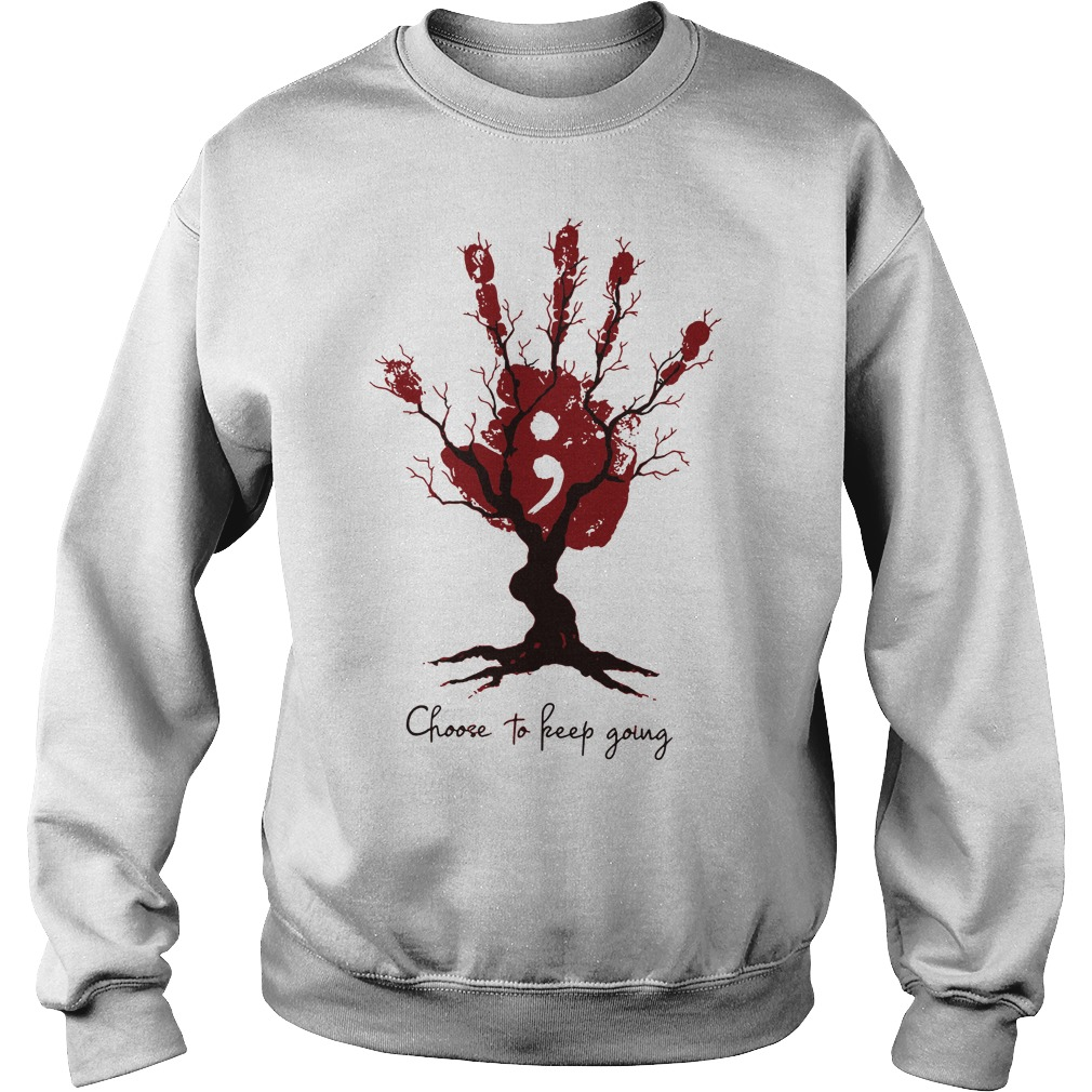 Handstree choose to keep going sweater