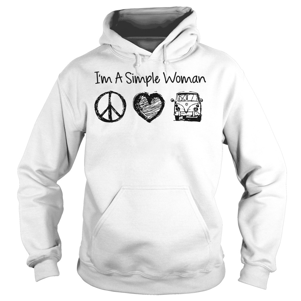 I'm a simple woman I likes hippie, heart and Mystery Machine hoodie