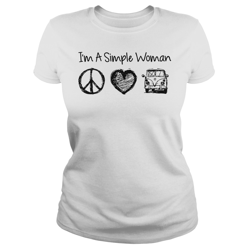 I'm a simple woman I likes hippie, heart and Mystery Machine shirt
