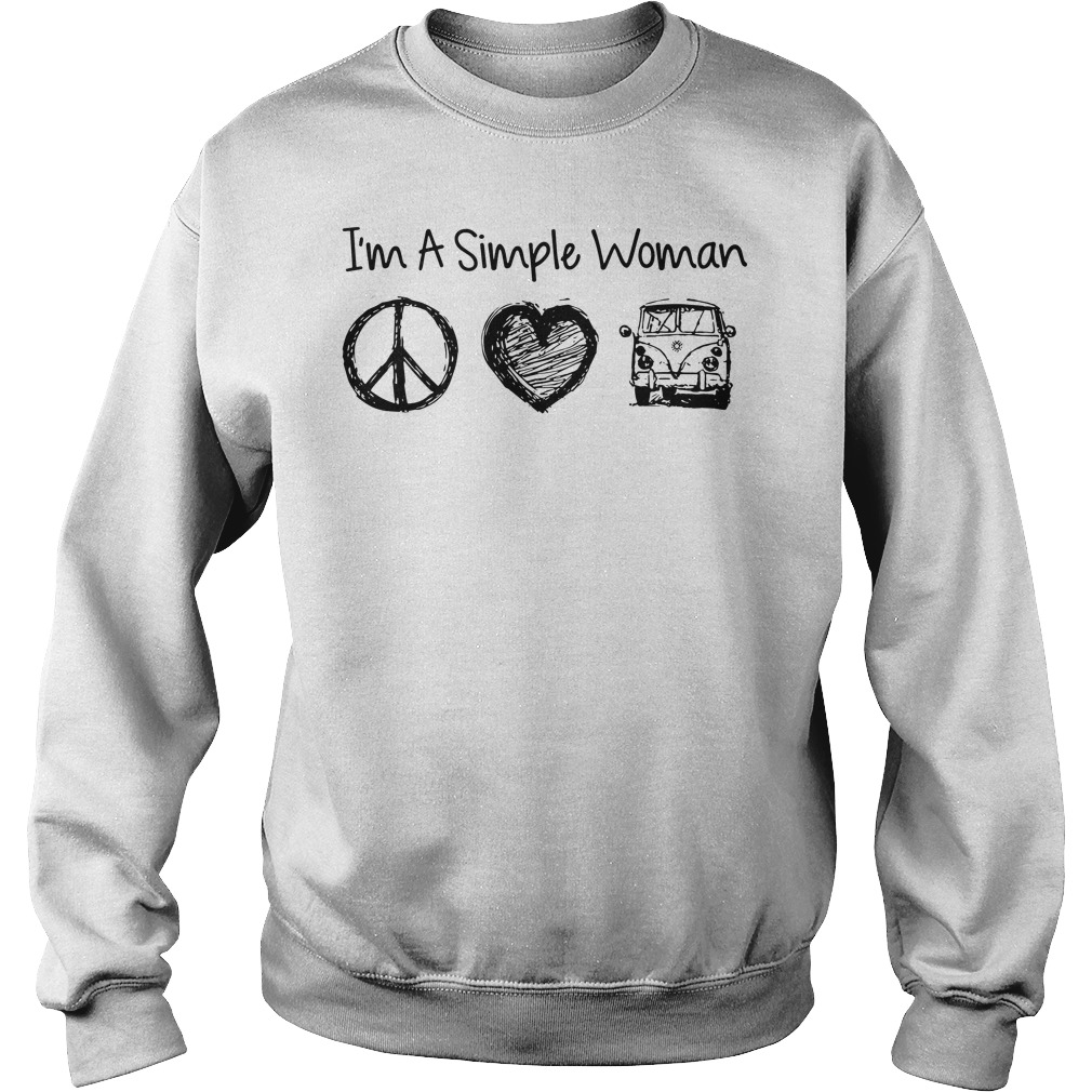 I'm a simple woman I likes hippie, heart and Mystery Machine sweater