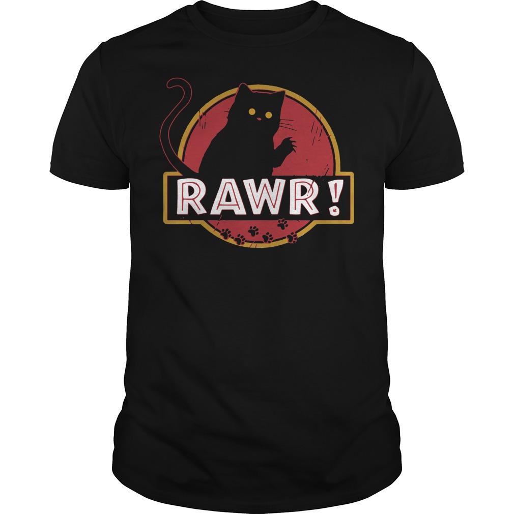 Jurassic Park cat Rawr shirt