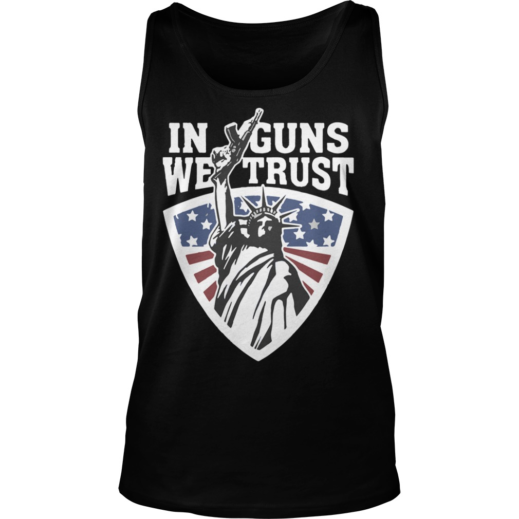 Liberty in guns we trust tank top