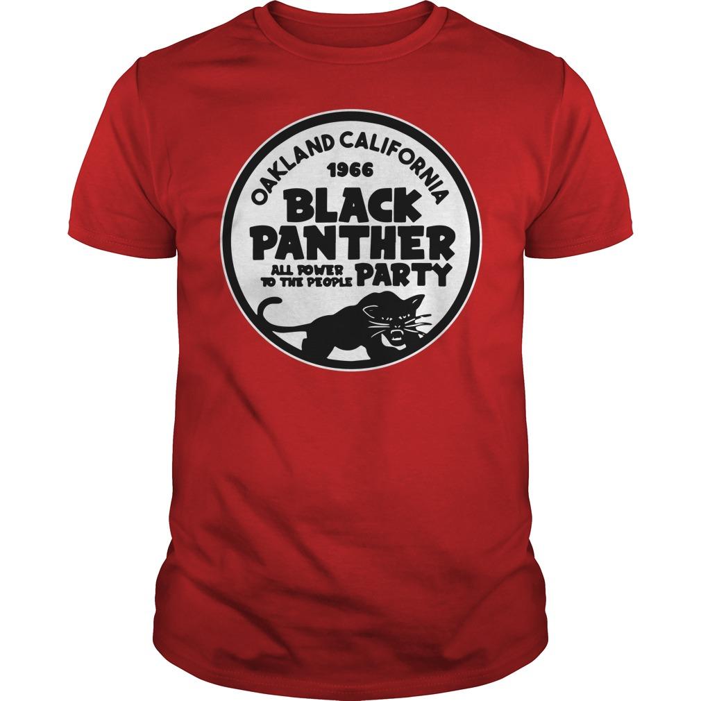 Oakland california black panther shirt