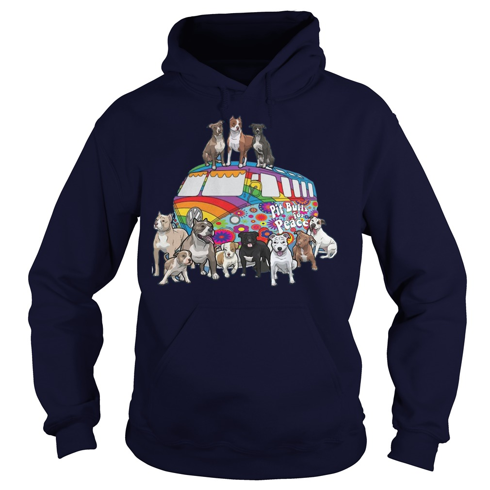 Pitbull for peace hoodie