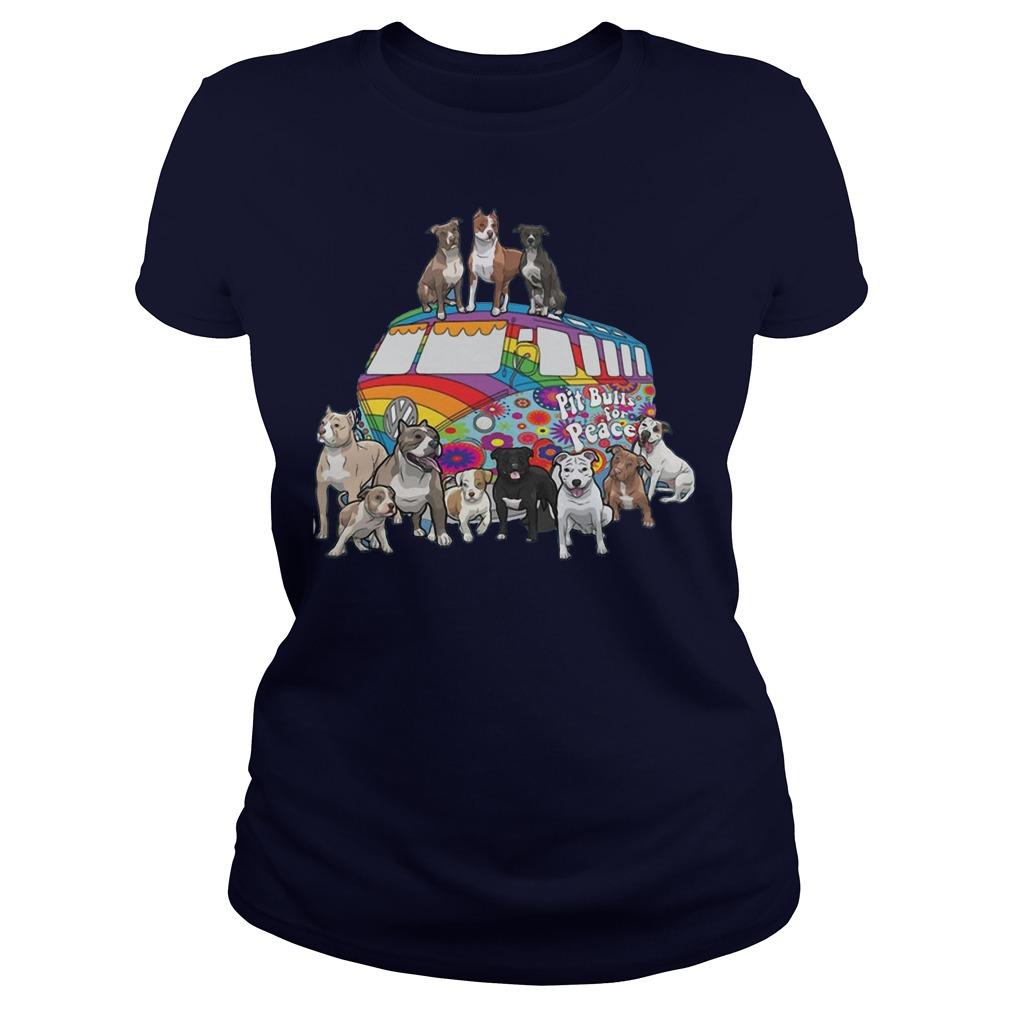 Pitbull for peace ladies shirt