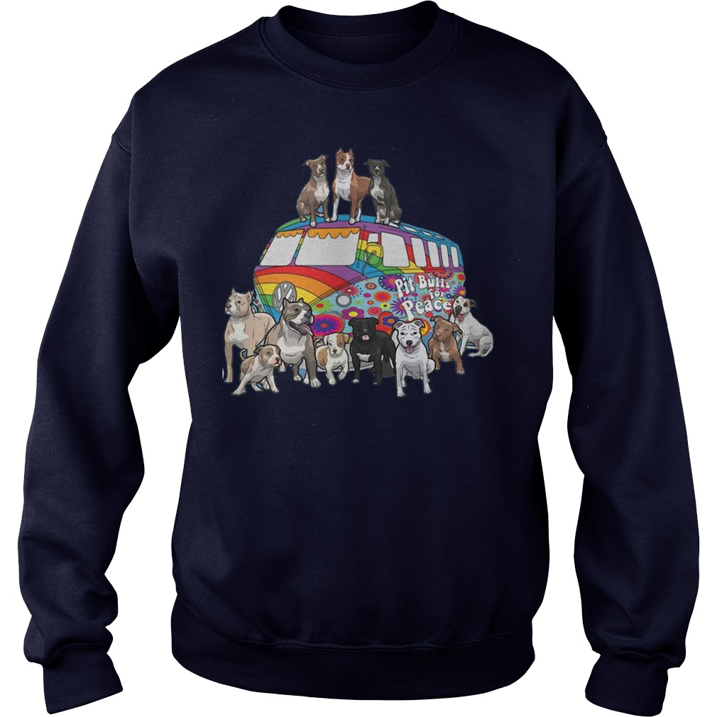 Pitbull for peace sweater
