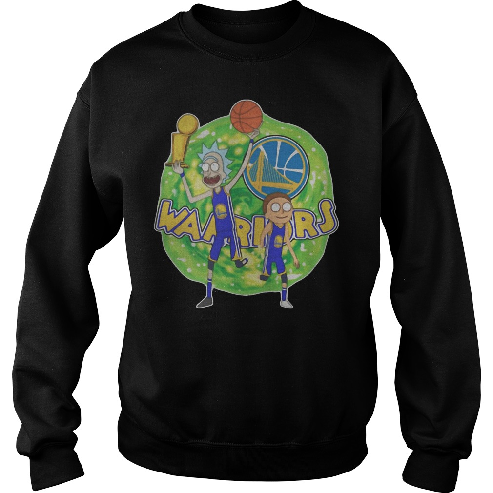 Rick And Morty Warrior Golden State Warriors sweater