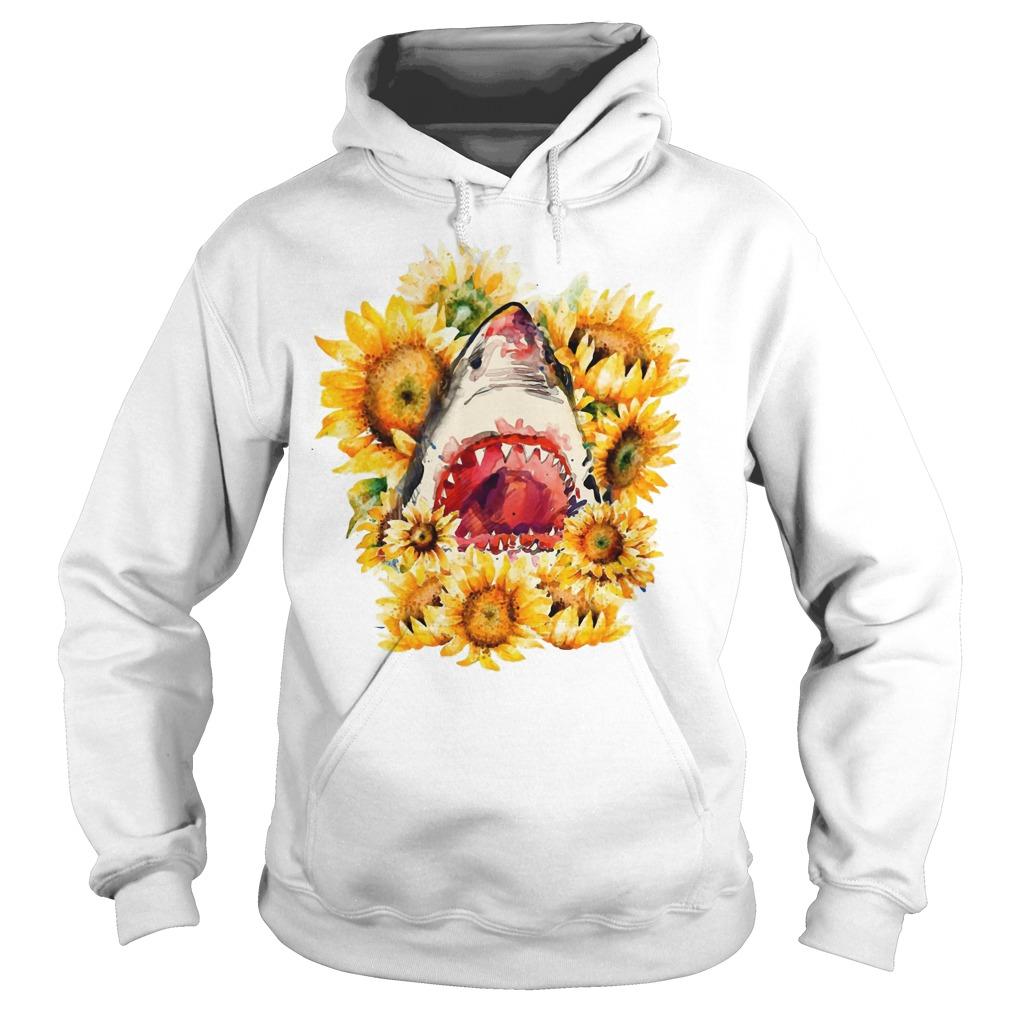 Shark sunflower hoodie