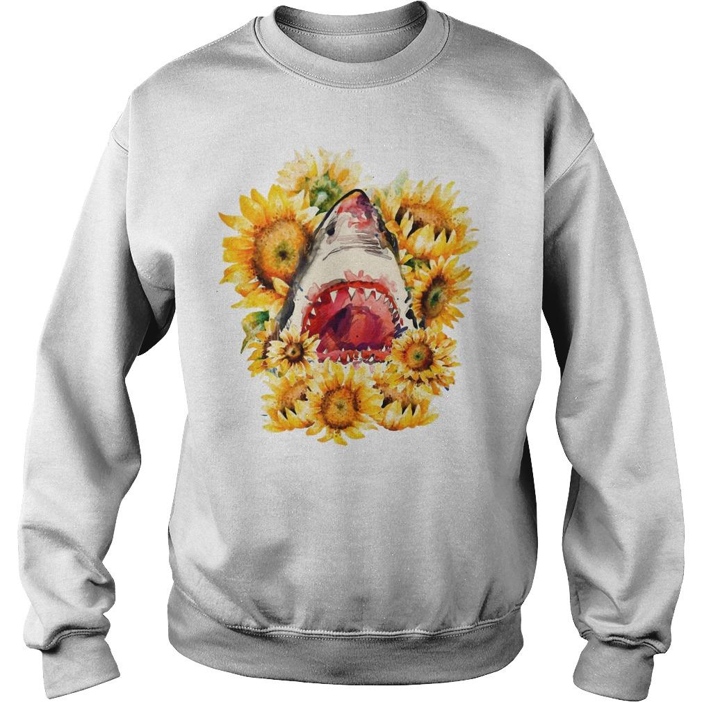 Shark sunflower sweater