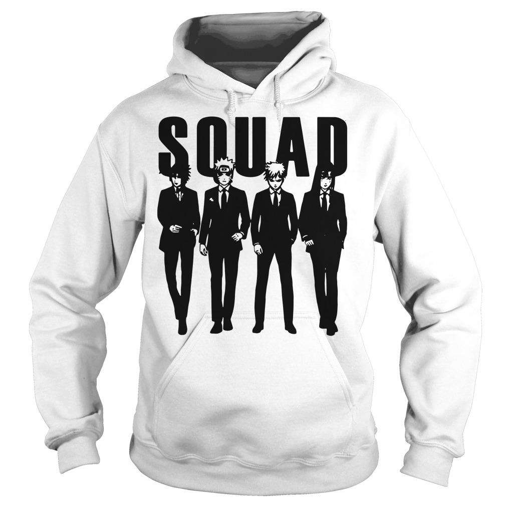 Squad Sasuke and Naruto and Gaara and Yoga hoodie