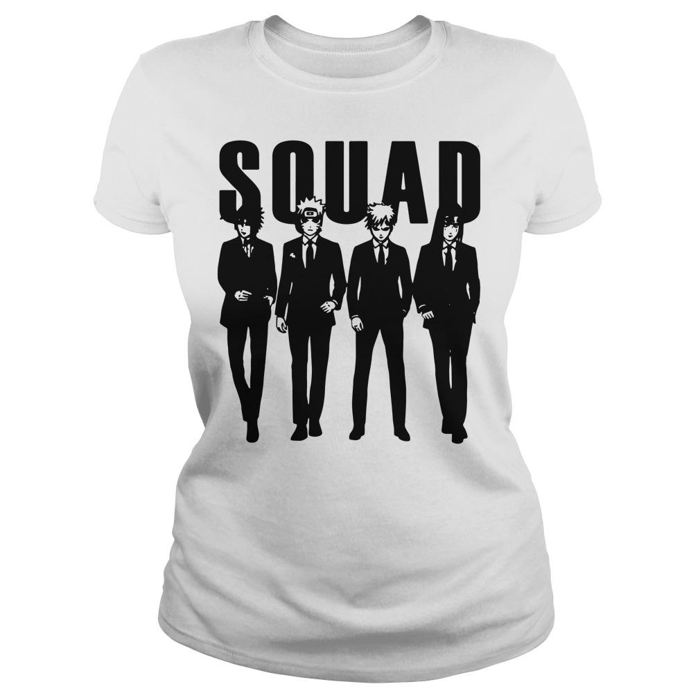 Squad Sasuke and Naruto and Gaara and Yoga ladies shirt