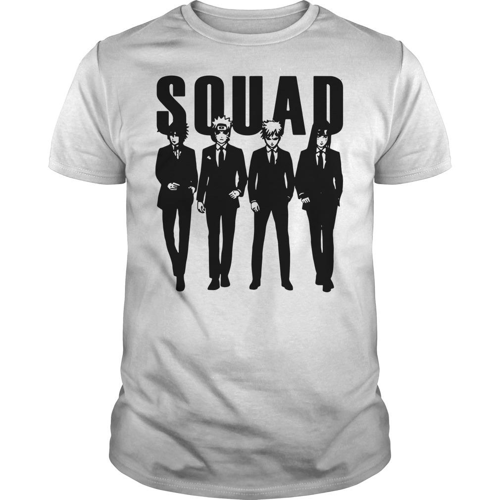 Squad Sasuke and Naruto and Gaara and Yoga shirt
