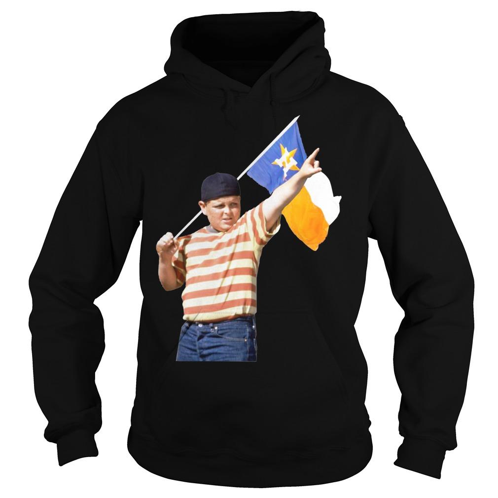 The Sandlot Houston Astros flag hoodie