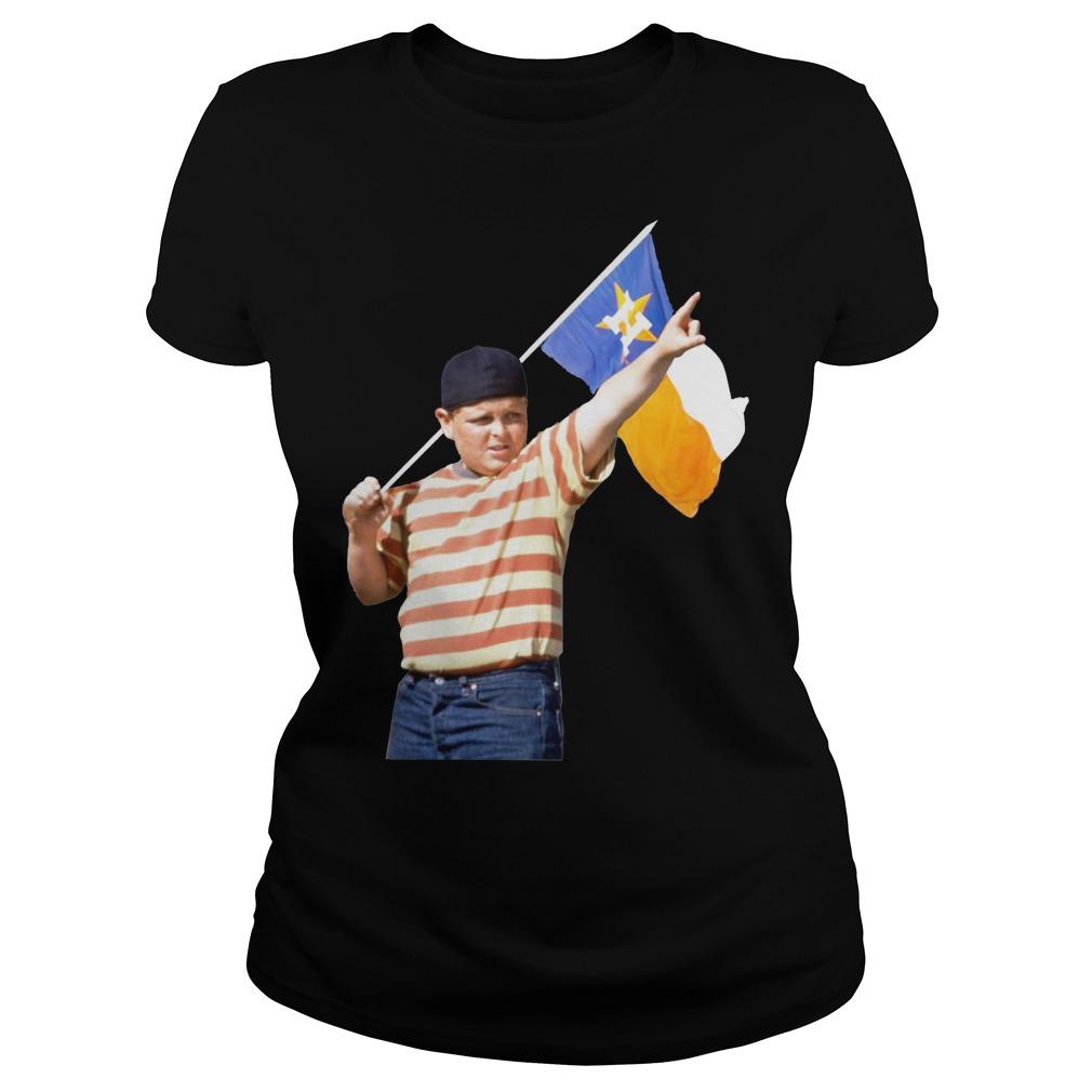 The Sandlot Houston Astros flag ladies shirt