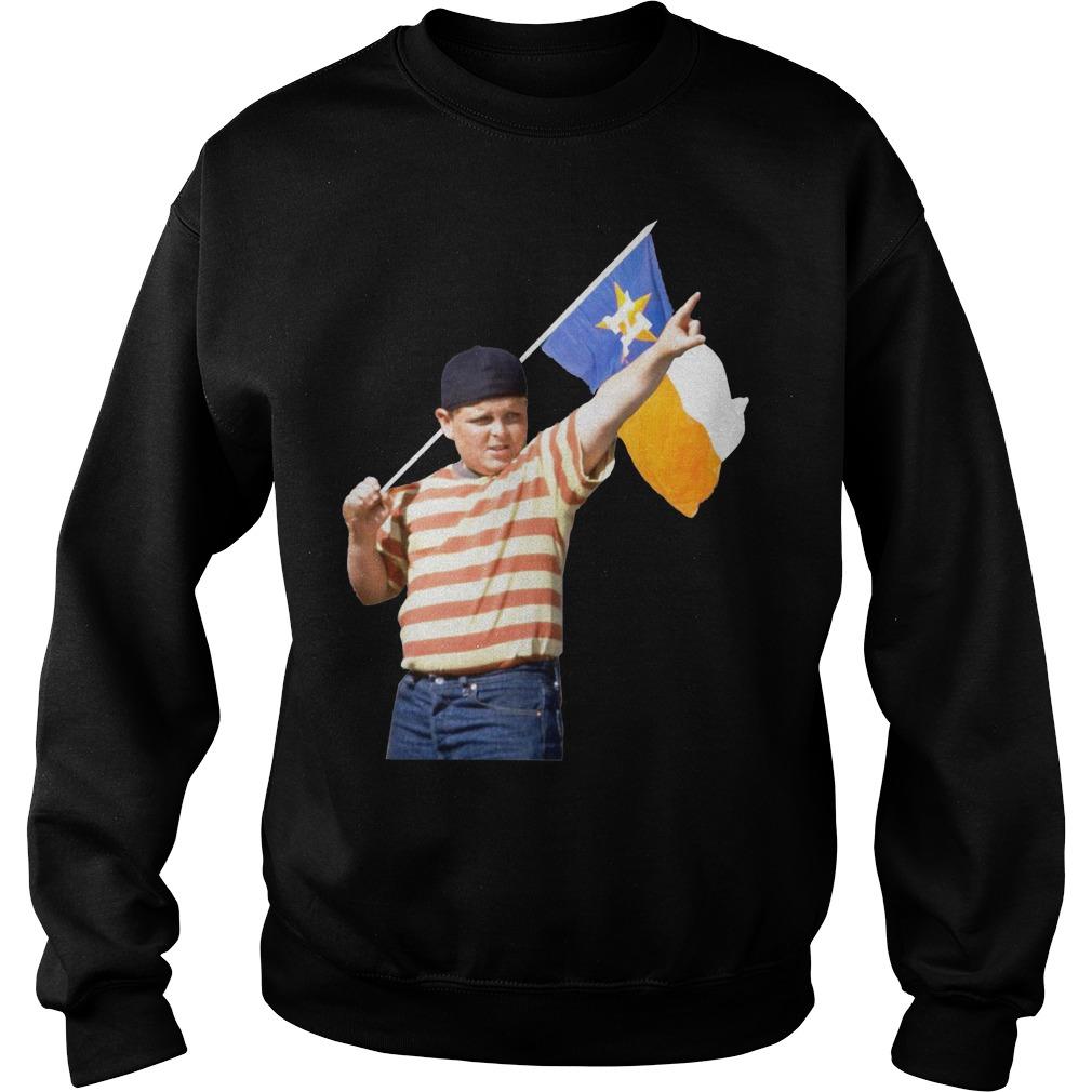 The Sandlot Houston Astros flag sweater