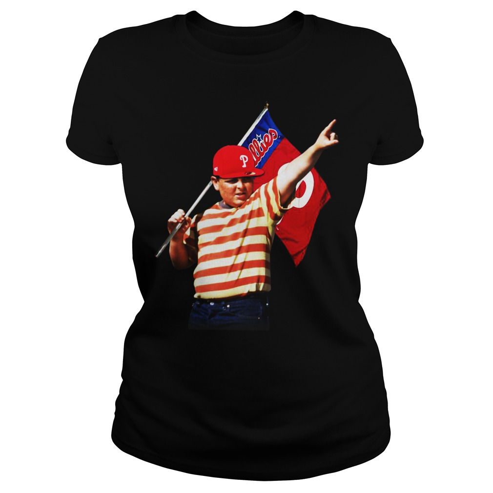 The Sandlot hold Philadelphia flag ladies shirt