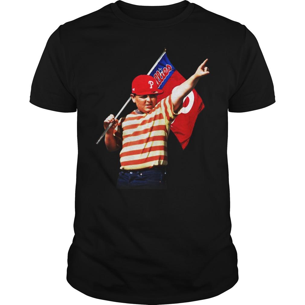 The Sandlot hold Philadelphia flag shirt