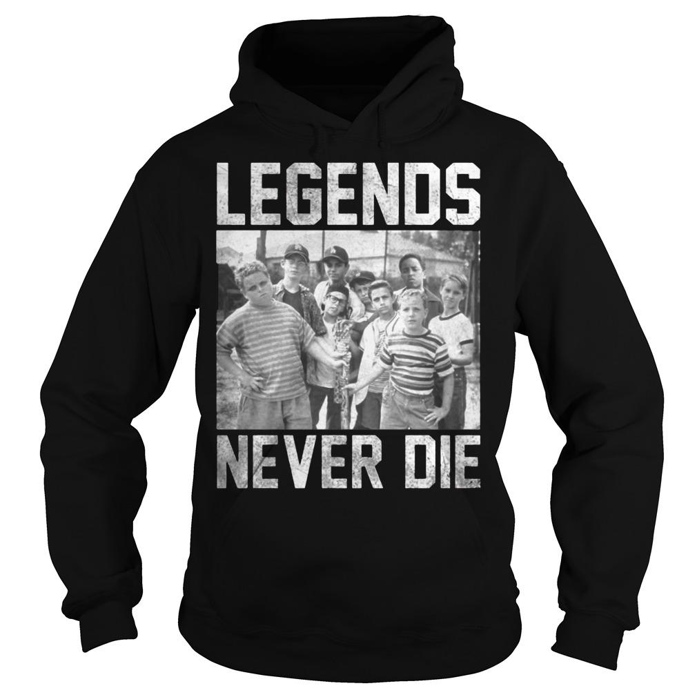 The Sandlot legends never die hoodie