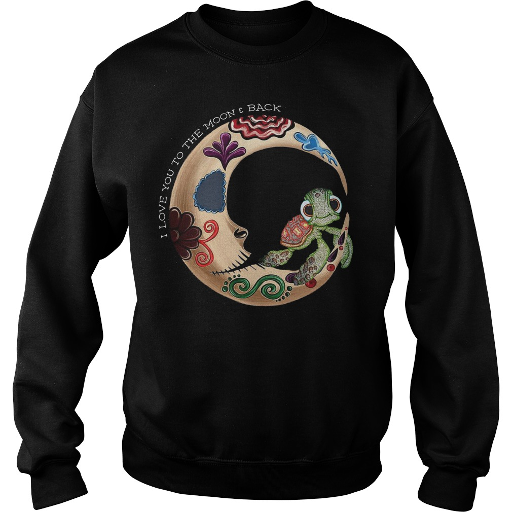 Turtle I love you to the moon and back sweater