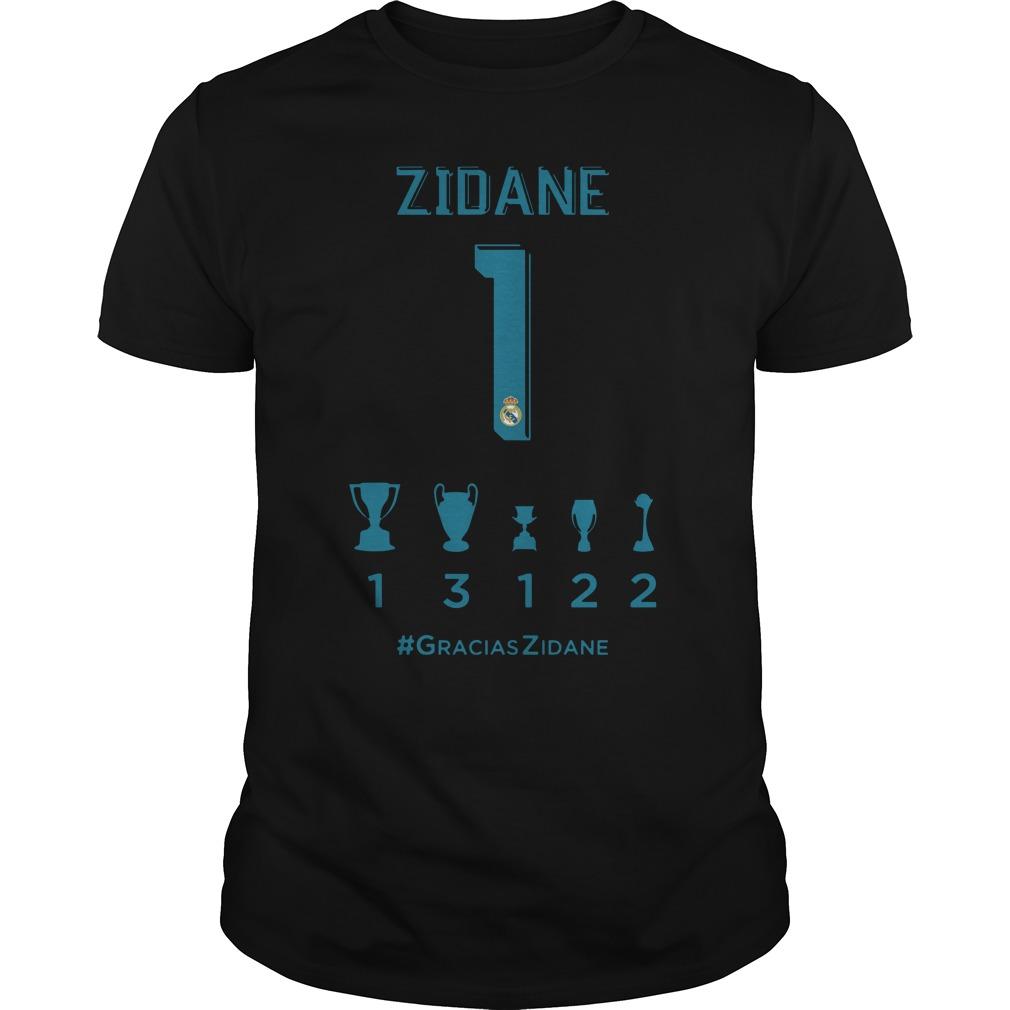 Zidane collection of titles shirt