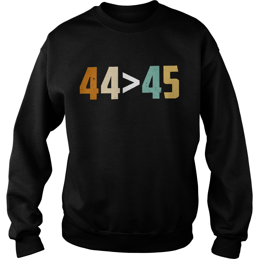 44 bigger than 45 president of American sweater