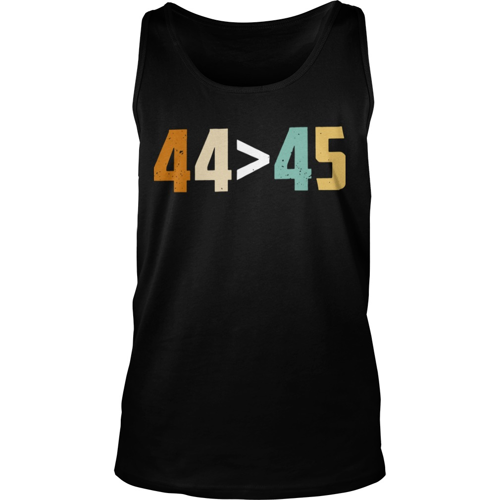 44 bigger than 45 president of American tank top